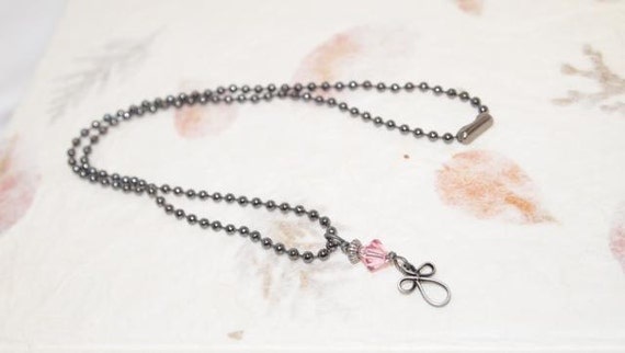 Teen Necklace. Crystal and Cross Charm Dangle Necklace. Great for Young Ladies. CKDesigns.us