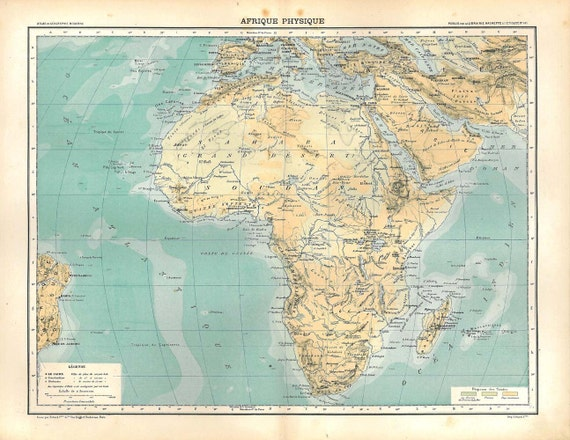 Pictures Of Physical Map Of Africa With Rivers And Mountains And