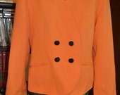 Orange Oleg Cassini Blazer/Size 10 Blazer/ Double Breasted Blazer