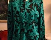 Jerry Garcia Floral Blazer/Size Large/ Floral Pattern Blazer