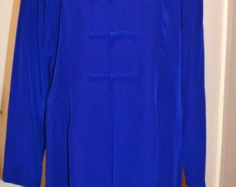 Vintage E.N Avance Silk Cobalt Blue dress