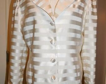 Vintage Travis Ayers Silk Striped Blazer