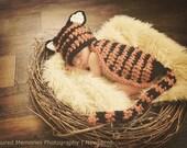 Little Tiger Animal Suit - Newborn Size OR Newborn to 3 Month Size - CROCHET PATTERN