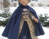 Doll Cloak Cape American Girl NAVY