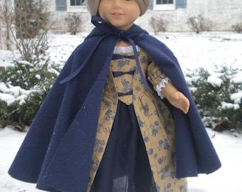 Doll Cloak Cape American Girl NAVY