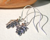 Silver Leaf Drop Earrings, UK Sellers only, Ready to Post