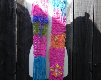 One-of-a-Kind unique handmade scarf, Ooak