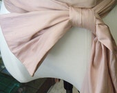 Dusty Pink Dupioni Silk Sash available in various shades &  various ways to tie