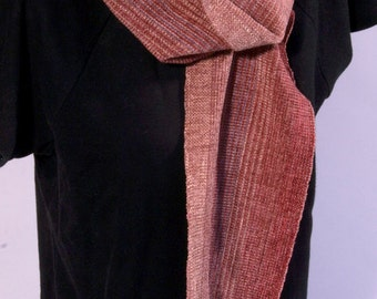 Chenille handwoven scarf