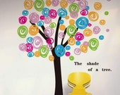 Vinyl wall decals flower wall decal sticker art Nursery wall decal mural children nursery wall decor baby girl room decal-Colorful Tree