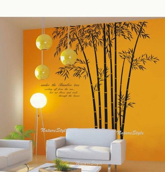 Beautiful Bamboo Grove Vinyl Wall DecalStickerNature Design - Vinyl wall decals bamboo