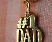 Number 1 Dad Key Ring - A Gift For Dad - Gifts Under 15, 25, 50 Father's Day
