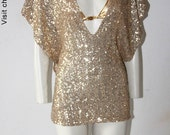 Kaftan Caftan Sequin Gold Summer Kaftan Caftan Cover up Dress Tunic - Chrisst Unique Handmade Dresses for Weddings SPECIAL Xmas  SALE PRICE