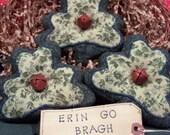 Primitive Whimsical Country St. Patricks Day SHAMROCKS Bean Bag Tucks Bowl Fillers Ornies
