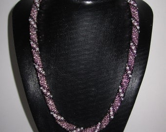 Amethyst hand crocheted spiral rope Sale was 70
