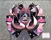 Custom Ballerina Ballet Dance Hair Bow Personalized