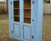 The Canterbury Cabinet - Large Wooden Handmade Painted Cabinet with Old World Charm by Arcadian Cottage