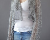 Summer cropped sheer knitted cardigan -  A144