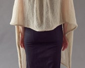Knitting pattern - machine knitting - softest elegant shawl with collar by Gala Golansky