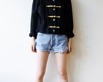 Military style Jacket with Golden Stripes