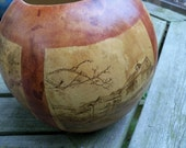 Customized Woodburnt Gourd Art of Special Moments and Memories