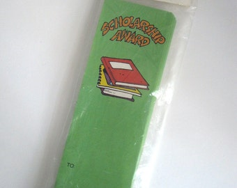 CLEARANCE Vintage 1987 Scholarship Award Bookmarks - 25/pack