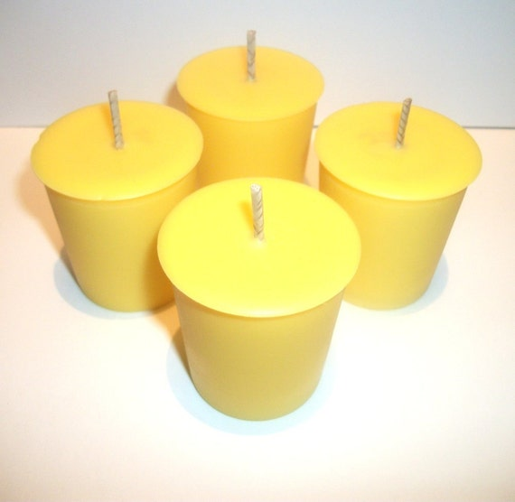 Lemon Berry Scented Soy Votive Candles set of 4