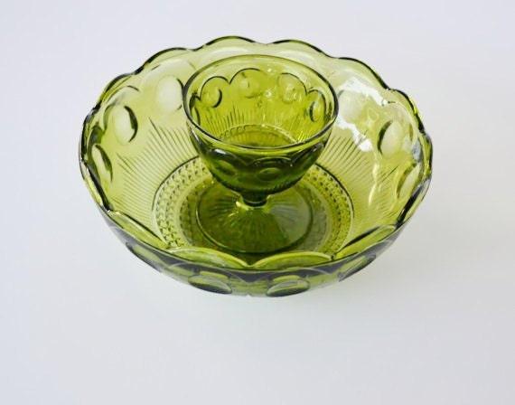 Glass Bowl Green Glass Bowl