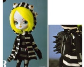 Halloween Cute Monster Punk Clothes and Spikes Backpack DAL Blythe Pattern PDF
