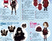"""8 Designers Pullip 27cm ( 10.6"""" )  Dolls Clothes Sewing Pattern PDF English templates names,Sewing key included"""