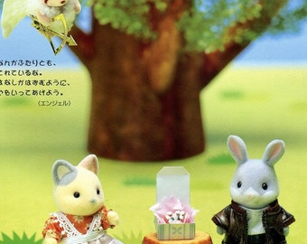 3 Complete Outfit for Sylvanian Families / Calico Critters Valentine's Day Pattern PDF