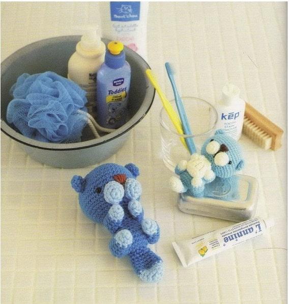 Amigurumi Blue Sea Otter Plush Crochet Pattern PDF