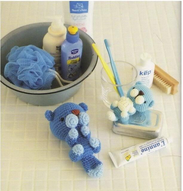 Ponyta Amigurumi Pattern : Amigurumi Blue Sea Otter Plush Crochet by AliceInCraftyland