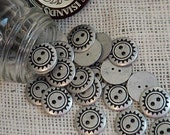 Silver Metal Buttons, Vintage Silver Pewter-Look Western Style Buttons, 2 Hole Tribal Steampunk Sun Design, Southwest itsyourcountry