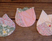 Shabby Tulip Appliques Vintage Cutter Quilt Fabric Craft Stitchery Flower Embellishments RESERVED itsyourcountry