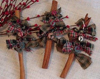 Cinnamon Stick Tree, Prim Christmas Tree, Basket Bowl Filler, Cupboard Tuck, Holiday Home Decor itsyourcountry
