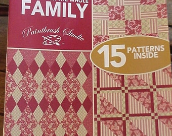 Patchwork Quilt Patterns Quilts for the Family  Booklet Fons Porters Love of Quilting Triangles Diamonds Strip Patchwork itsyourcountry