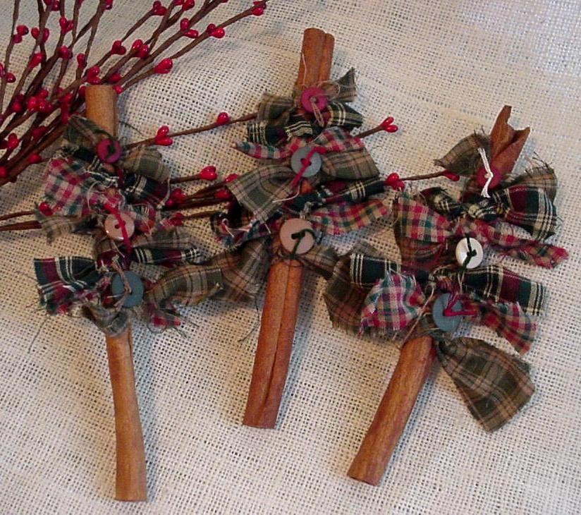 Cinnamon Stick Tree Prim Christmas Tree Basket By
