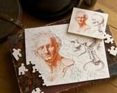 """Jigsaw Puzzle, Wooden, 70 pieces -""""Anatomie du gladiateur combattant"""""""
