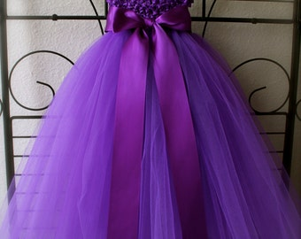 Purple Empire Waist Tutu Dress