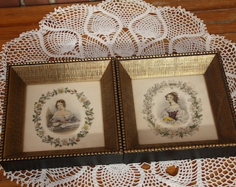 Very fine Vintage Framed prints of Victorian Ladies Women set of Nice Gift wall hanging decoration