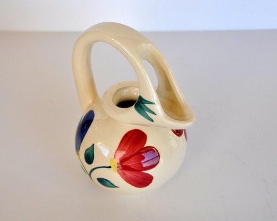 Vintage PURINTON HONEY JUG - Open Petals Pattern