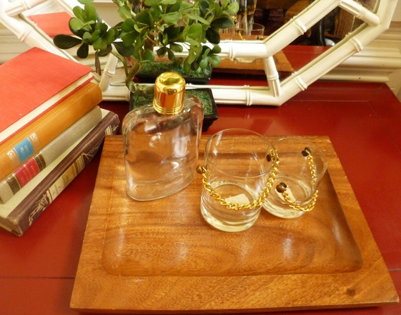 Glass Flask with Gold Tone Cap