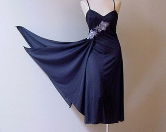 Boogie Nights Jeweled Jersey Dress 70s Vintage