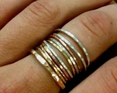 Tower of Hanoi Stackable Rings in Gold-filled, rose-gold filled, and sterling silver