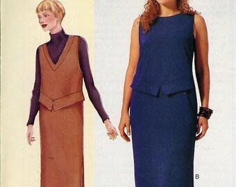 Vogue Pattern 7274 - Today's Fit by Sandra Betzina - Misses/Misses Petite Dress ABC 32-36 UNCUT