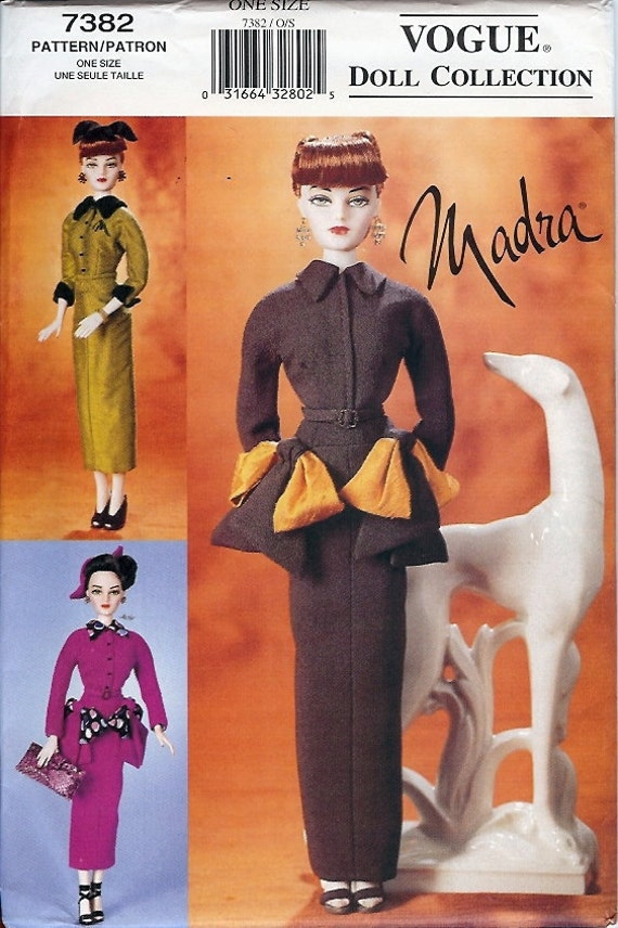 Vogue Doll Collection Pattern 7382 - Doll Clothes for Madra circa 1950 Doll UNCUT