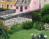 Doolin print from an OOAK oil painting Ireland,matted and ready to frame