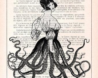 FRENCH GIRL, original ARTWORK, art print, art poster