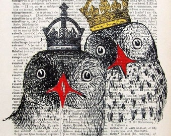ARISTOCRACY, original mixed media,acrylic painting,print.poster